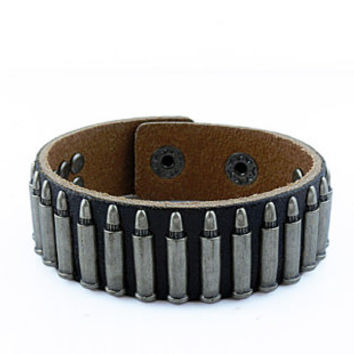 punk style bracelet with metal rivet, men's jewelry bangle cuff bracelet, women's leather bracelet S102-BL