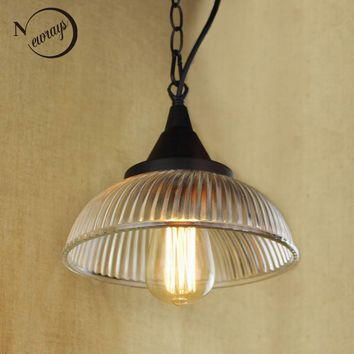 Recycled retro Hanging clear glass cup Pendant Lamp with Edison Light bulb