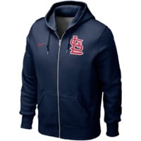 St. Louis Cardinals Nike Classic Full Zip Hoodie 1.2 – Navy Blue