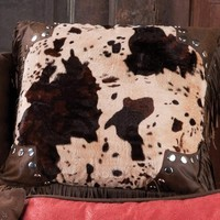 Faux Cowhide Pillow - Bedding Coordinates - Bedding