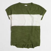 Factory striped linen sweater-tee