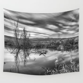 """Mammoth Paradise II"" Bw Wall Tapestry by Guido Montañés"