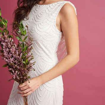 Graceful Grandeur Maxi Dress in Ivory
