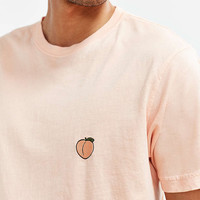 Embroidered Peach Tee - Urban Outfitters