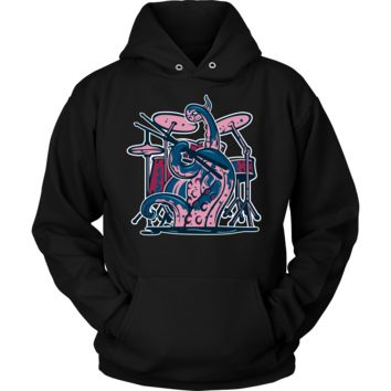 Octopus Drummer Musician Sea Animal Novelty Funny Gift Hoodie