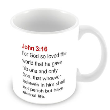 John 3:16 Mug Bible Mug Bible Quote Mug Coffee Mug Church Gift Catholic Christian Gift Bible Verse Religion PM14