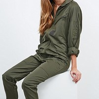 Urban Renewal Vintage Originals Military Jumpsuit in Khaki - Urban Outfitters