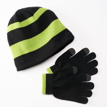 Tek Gear Fleece-Lined Hat & Glove Set - Boys