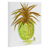 Madart Inc. Green and Gold Pineapple Art Canvas
