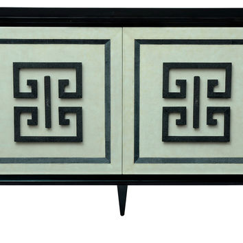 "Credenza Black Tie 54"" Leather, Buffets & Sideboards"