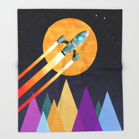 Rocket: 2nd Star to the right LLAP Throw Blanket by Tjc555 | Society6