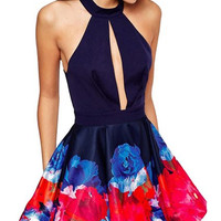 Women's Bodycon Sexy Sleeveless Party Cocktail Evening Skater Dress