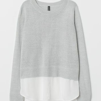 Knit Sweater - Light gray - Ladies | H&M US