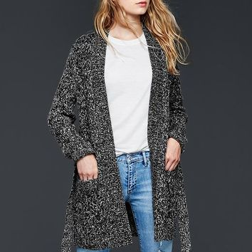 Gap Women Cable Knit Sweater Wrap Cardigan