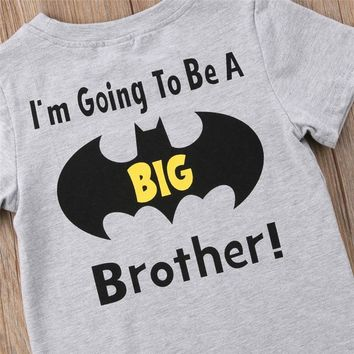 Batman Dark Knight gift Christmas Cotton Toddler Kid Baby Boy Batman Big Brother O-Neck Top T-shirt Casual Clothes Summer AT_71_6