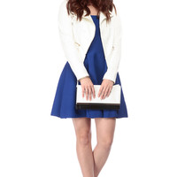 Tubular Groove Royal Blue Skater Dress