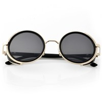Rock and Roll Round-Frame Sunglasses - OASAP.com