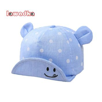 Lawadka Smile Design Baby Hat Baby Boy Caps Summer Hats For Boy Infant Sun Hat With Ear Beanies Accessories