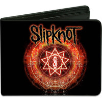 Slipknot Men's Slipknot Reborn Star Black/Orange Glow Bi-Fold Wallet
