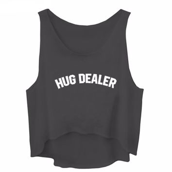 Hug Dealer - Women's Crop Tank Top