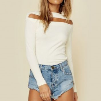DEX RIB KNIT TOP