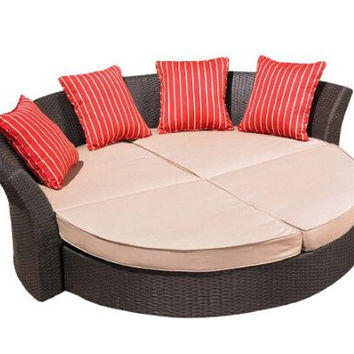 2017 poly rattan garden furniture wicker outdoor daybed