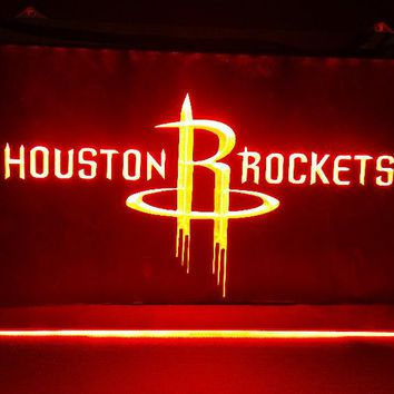 Houston Rockets 3D Bar Pub LED Neon Light