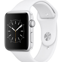 Apple Watch Series 2 42mm Silver-Tone Aluminum Case with White Sport Band - Apple Watch - Jewelry & Watches - Macy's