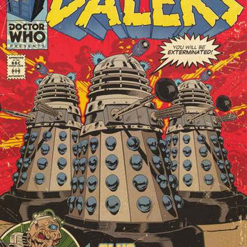 Doctor Who Daleks Davros Comic Book Poster 24x36