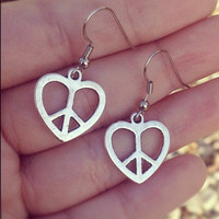 Heart Earrings from Country Wind