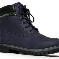 DALLAS-10 Lace Up Zipper Hiking Inspired Ankle Boot Booty 6