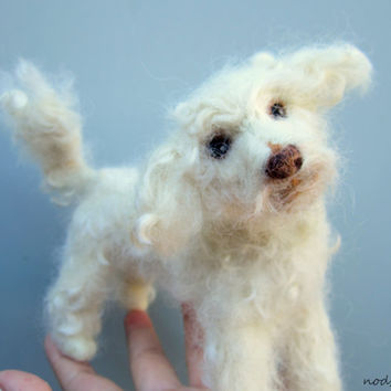 CUSTOM felted pet portrait replica meme poseable fiber sculpture please message before buying/ Made to order