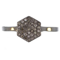 Lulu Designs Champagne Diamond Hexagon Ring