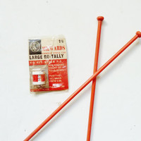 vintage knitting ro-tally by Milwards . to fit needles sizes 1-5 . made in england . knitting gauge   knitting counter