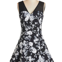 ModCloth Short Length Sleeveless A-line Sense of Efflorescence Dress