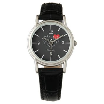 The Singing Heart romantic funny customizable Watch