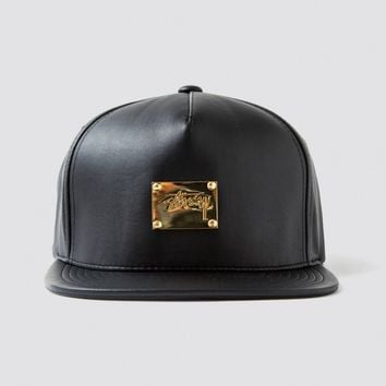 Lux Leather Snapback