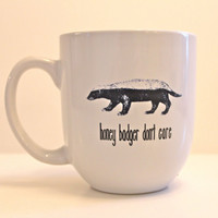 Honey Badger inspired mug