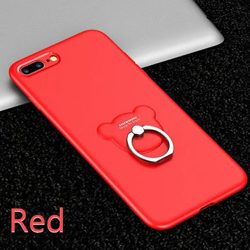 Integral TPU Bear Soft Case For iPhone X 8 8Plus 7 7Plus 6s 6sPlus 6 6Plus (Red)