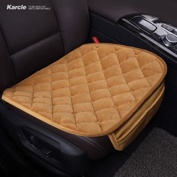 Karcle 1PCS Plush Car Seat Covers Protector Driver Chair Pad Car-styling Breathable Summer Seat Cushion  Auto Accessories