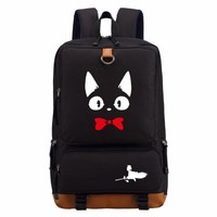 Kiki's Delivery Service cute lovely cat backpack teenagers Men women's Student School Bags travel Shoulder Bag Laptop Bags