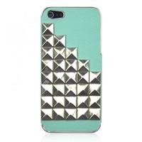 Hot Rivet On Litchi Grain Stick Handmade Hard Case for iPhone 5  from Hallomall