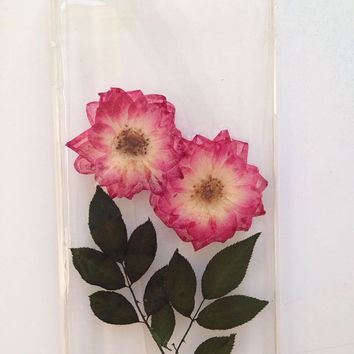 Handmade Real  Natural Pressed Flowers leaf iphone 6 6 plus case iphone 5 5s 5c case cover Samsung galaxy s5 note 2 note 3 case cover rose