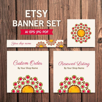 Jewelry Etsy Banner Set - Branding Package - Shop Branding - Business Branding - Business Branding Package - Shop banners & avatar
