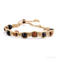 Hemp and Wood Beaded Anklet on Sale for $4.99 at HippieShop.com