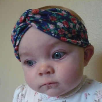 Baby Headwrap Bandana Baby Turban Headband Turband Baby Girl Headband Flower Headband Blue Newborn Hairband Children Kids Goodtreasures123