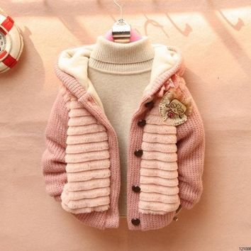 LMFUG3 Children's Fashion 2015 Outerwear Clothing Girls Faux Fur Warm Coats & Jackets For Autumn   Winter = 1932009284