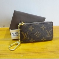 Louis Vuitton COIN PURSE BROWN COIN POUCH KEY HOLDERS Day-First™