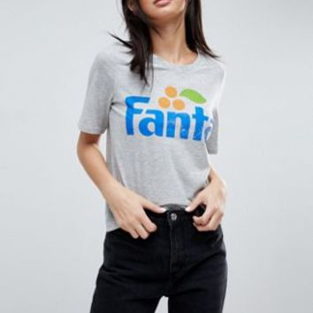 Only Fanta Slogan T-Shirt at asos.com