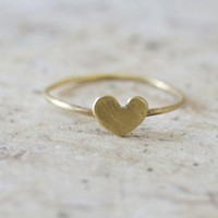 Brass Heart Ring